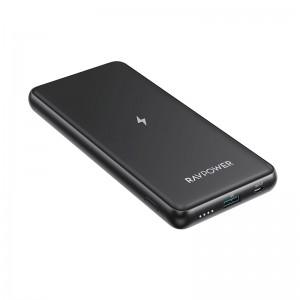 RAVPower 10000mAh 1x USB|1x Type-C 10W QC3.0 Wireless Power Bank - Black