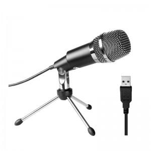 Fifine K668 Uni-Directional USB Condensor Microphone with Tripod - Black