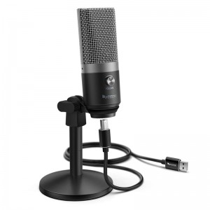 Fifine K670B Cardioid USB Condensor Microphone with Stand - Black