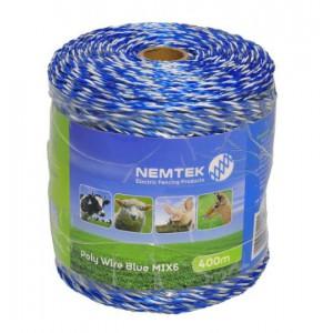 Nemtek Poly Wire - Blue MIX6 - 400m