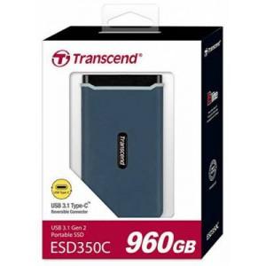 Transcend ESD350C 960GB USB3.1 Gen 2 USB Type A & Type C OTG Portable External SSD