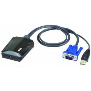 Aten CV211 Laptop USB KVM Console Crash Cart Adapter