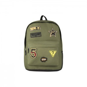 Playground Badges Boys Backpack - Green