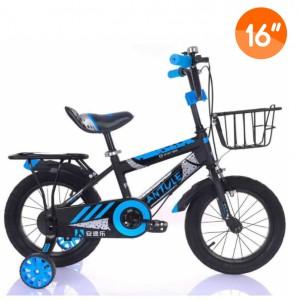 Kids Bike with Training Wheels - Blue/Gray