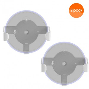 Wall Mount Holder for Amazon Echo Dot 2nd Gen (2 Pack) - White