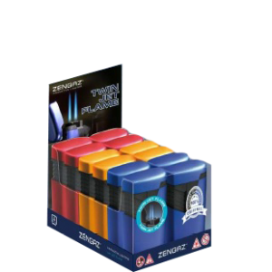 Zengaz ZL 9 Twin Jet Flame Lighter  (Mixed)- 12 pcs