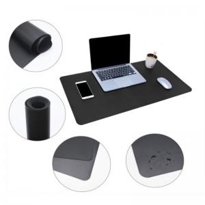 TUFF-LUV Ultra Thin Mega Desk pad Mat for Home & Office – Medium (43cmx30cm) - Black