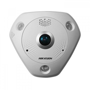 Hikvision 6-MP Infrared Fisheye Network Camera. ICR, 0lux with IR, 1.05mm/F2.8 lens