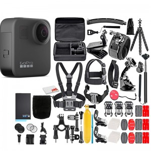 GoPro Max 360 Action Camera with 50 Piece Accessory Kit