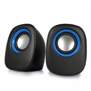TUFF-LUV X2 USB Powered Mini Compact Stereo Speakers with 3.5mm Audio Input