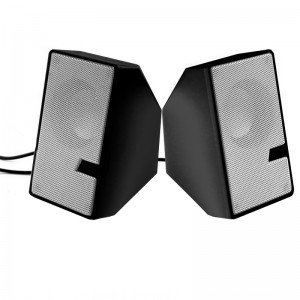 TUFF-LUV D7  USB Powered Mini Compact Stereo Speakers with 3.5mm Audio Input and Inline Control -Black