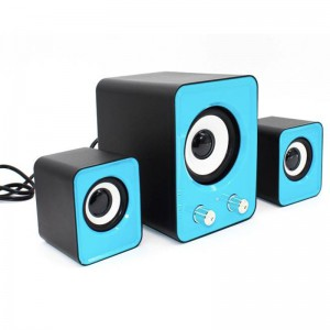 TUFF-LUV 2.1 Compact stereo Speaker/Woofer with control 2x3W +5W  and 3.5mm Audio input - Black