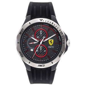 Ferrari Men Pista Analogue Watch - Black