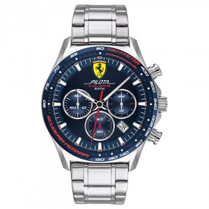 Ferrari Men Pilota Evo Blue Round Dial Watch