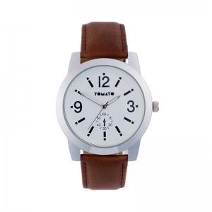 Tomato Gents White Dial Round Silver 44mm Watch