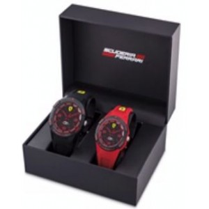 Ferrari Apex Analog Black Round Dial Men's Watch