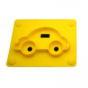 Silicone Plate for Baby - Car