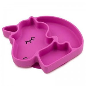 Silicone Suction Plate for baby- Unicorn
