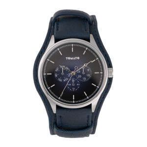 Tomato Gents Navy Sray Dial Silver Case 44mm Watch