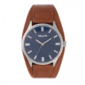Tomato Gents Navy Matte Dial  Silver Case 44mm Watch