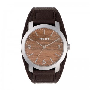 Tomato Gents Wood Dial Sil Case 45mm Watch