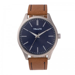 Tomato Gents Blue Dail Silver 45mm Case Watch