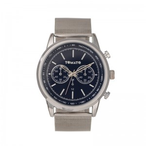 Tomato Gents Navy Dial  46mm Silver Case Watch