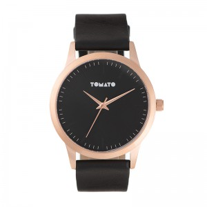 Tomato Gents Black Dial 43mm Rose Case Watch