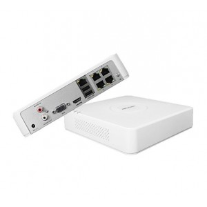 Hikvision 4-Channel Embedded Mini-NVR - 25Mbps Bit Rate Input Max (up to 4-ch IP video)