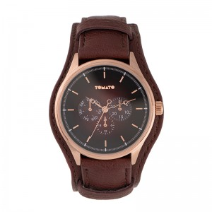 Tomato Gents Brown Sray Dial 44mm Rose Case Watch