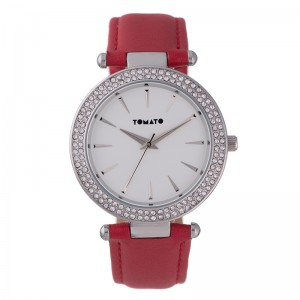 Tomato Ladies Sandy Silver Dial Silver+Stone 38mm Case Watch