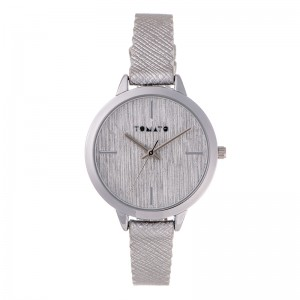 Tomato Ladies Silver Brushed Lines Dial Watch