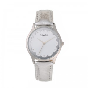 Tomato Ladies White Diall Silver 35mm Case Watch