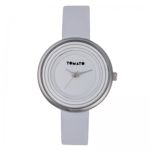 Tomato Ladies White Dial Round Silver 38mm Case Watch