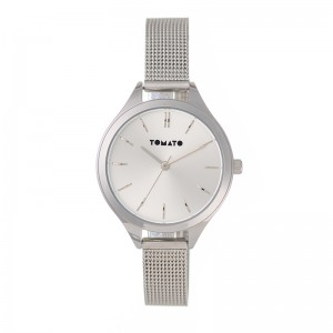 Tomato Ladies Silver Sunray Dial Silver 35mm Case Watch