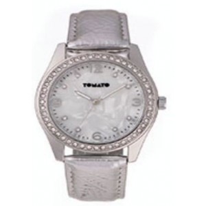 Tomato Ladies Mop Look Dial Silver+Stone 39mm Watch