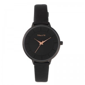 Tomato Ladies Black Dial 36mm Black Case Watch