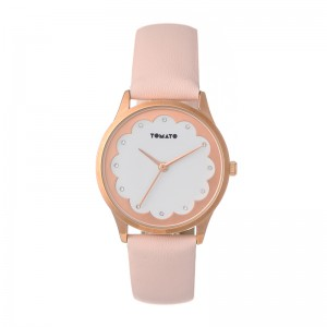 Tomato Ladies White Dial Rosegold 35mm Case Watch