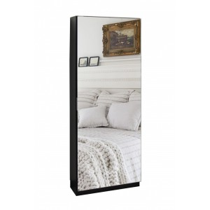 Full Length Mirror Shoe Cabinet - Wenge