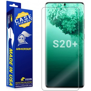 """ARMORSUIT MILITARYSHIELD - Samsung Galaxy S20 Plus 6.7"""" Screen Protector - FULL EDGE coverage - Case Friendly (Anti-Bubble & Extreme Clarity)"""