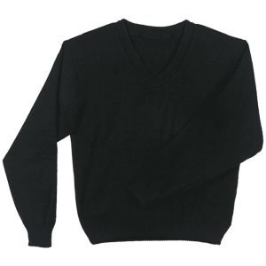 L/S Plain V-neck Jersey Colours: Black, Navy Size: Small - Large