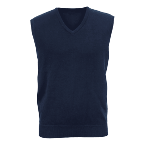 Sleeveless Pullover V-neck Jersey Colours: Black, Navy Size: Small - Large
