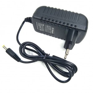 9V 3A 5.5mm x 2.1mm Power Adapter Charger (European Plug) - Black
