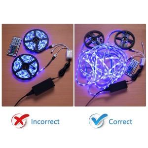 WenTop Wireless Smart  LED Strip Light kit with DC12V UL Power Supply - 5M
