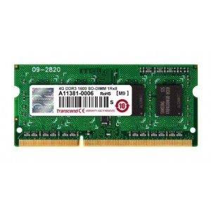 Transcend 8GB JetMemory (4GB x 2 Kit) DDR3- 1600 SO-DIMM 1Rx8 Kit for Mac Pro Early 2011 - Mid 2012 & Mac Mini, Mid 2011 - Late 2012 (TS8GJMA424H)