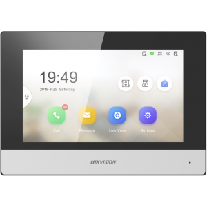 """Hikvision 7"""" Touch Screen - Indoor Station - (2nd Generation, Value Series)"""