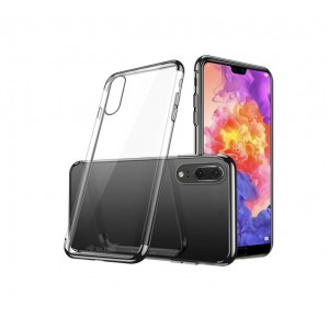 Tellur Cover Silicon Electroplated Huawei P20 - Black