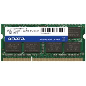 Adata 8GB SODIM 204PIN 1600MHZ DIMM 1600Mhz, Notebook memory