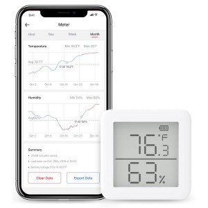 SwitchBot Thermometer Hygrometer - Wireless Temperature Humidity Sensor with Home Assistant