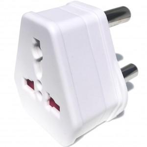 European USA UK Multi Plug to South African Power Converter - White
